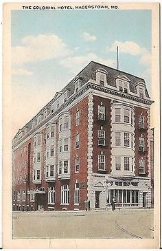 The Colonial Hotel In Hagerstown Md Postcard