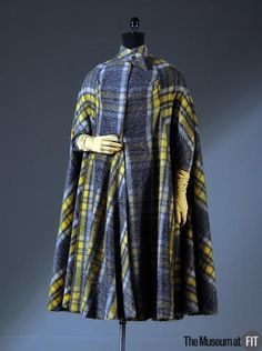 Coat Madame Grès, 1950 The Museum at FIT. I saw this coat in Belgium!