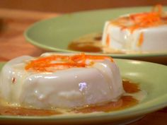 Panna Cotta with Caramel Sauce recipe from Dave Lieberman via Food Network