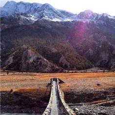 #Annapurna_Round_Trekking : Photo of the Day Into the Himalayas || Manang, Nepal during Annapurna Round trekking #ACT_trek #clearskytreks #annapurna_region #trekking_hiking #walking_tours. 📷: @Clear_Sky_Treks....