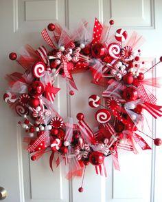 Peppermint Sticks & Lollipops Wreath