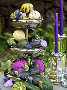 """Unique Autumn Palette ~ Wouldn't it be a cute centerpiece for a """"Witches Tea""""?!"""