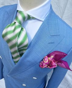 "terrycorbettco: ""Terry Corbett's Handmade to Order 2 on 6 Doublebreasted bespoke suit. Perfect wears for a Polo Match or perhaps for the sipping of Mint Juleps on a summer night at the Country Club… """