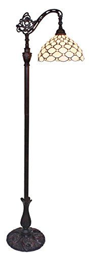 Amora Lighting Tiffany Style Jeweled Reading Floor Lamp 62 In Retro Floor Lamps, Antique Floor Lamps, Modern Floor Lamps, Cool Floor Lamps, Best Led Grow Lights, White Floor Lamp, Painting Lamps, Vintage Lamps, Stained Glass