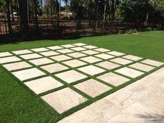 paver and artificial turf backyard Driveway Landscaping, Landscaping Ideas, Patio Ideas, Driveway Pavers, Hydrangea Landscaping, Paver Walkway, Farmhouse Landscaping, Grass Pavers, Patio Slabs