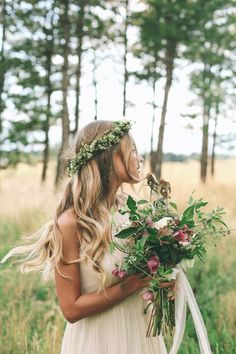boho bride perfection. love the moody wild bouquet TESSA BARTON: Taylor & Chad