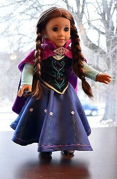 "Anna's Dress in Frozen Outfit Clothes for 18"" American Girl Journey Girls Lumi 