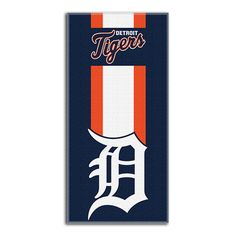 Detroit Tigers MLB Zone Read Cotton Beach Towel 30in x 60in