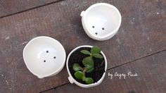 ceramic planters by Angry Pixie