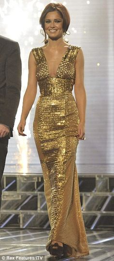 Cheryl Cole in gold