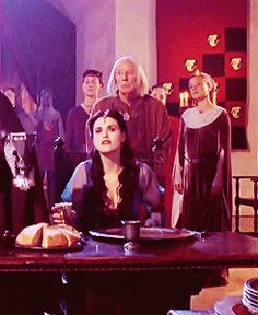 Morgana in 1x04. Gosh, she is so unbelievably beautiful. Indigo and turquoise are such flattering colors on her. (gif set)