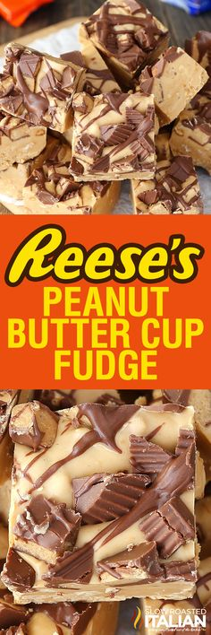 Reese's Peanut Butter Fudge is luscious and creamy, made with chunks of peanuts throughout the fudge to give it the perfect crunch. This Reese's Peanut Butter Fudge is a simple recipe with just 4-ingredients! It comes together in just 10 minutes.