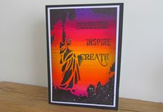 How to Make a Graffiti-effect Card using Aquatints #Papercraft #Art #SpectrumNoir #Aquatint