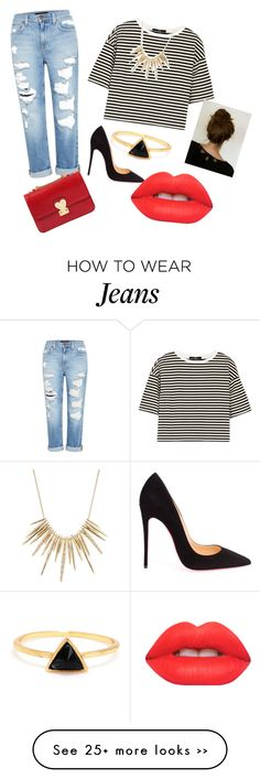"""everyday boyfriend jeans oufit"" by gabika163 on Polyvore"