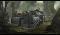 utility station , Zachary Graves on ArtStation at https://www.artstation.com/artwork/utility-station