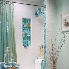 Installing a tile shower in your bathroom? Build an alcove, bench and shelf into the shower space with these advanced tiling techniques, and turn your bathroom into a showplace.