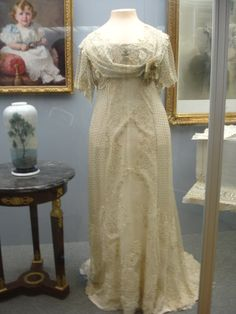 "One of Empress Alexandra's ""loose, flowing dresses"" on display at Pavlovsk"