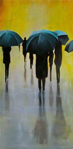 Tina Palmer - Urban Rain original painting