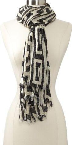 Echo Design Women's Tribal Geo Wrap Scarf, Black, One Size - http://todays-shopping.xyz/2016/06/07/echo-design-womens-tribal-geo-wrap-scarf-black-one-size/