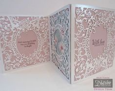 Tri-fold Screen Card made with Crafter's Companion Classic Floral Frame Create a Card Die. Designed by Becky Turner #crafterscompanion