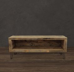 Reclaimed Wood Media Console. Just stunning.