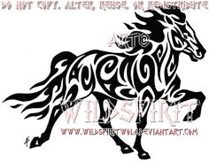 Tribal Icelandic Horse Tattoo by WildSpiritWolf.deviantart.com on @deviantART