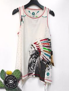 Double D Ranch Whirling Horse Tank in String - Dusty Diamonds Boutique