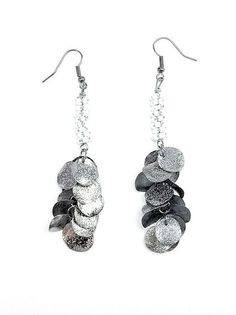 Hammered Metal Earring in White - $11.20 : FashionCupcake, Designer Clothing, Accessories, and Gifts