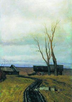 Isaac Levitan  Autumn. Road in a Village.  Осень. Дорога в деревне.