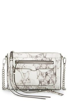 Rebecca Minkoff 'Avery' Crossbody Bag available at Handbag Accessories, Jewelry Accessories, Fashion Accessories, Marble Print, Bagan, Beautiful Bags, My Bags, Purses And Handbags, Fashion Bags