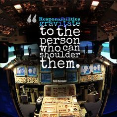 """""""Responsibilities gravitate to the person who can shoulder them."""" #TomStoppard #Inspirational #Quotes @Candidman"""
