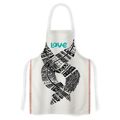 KESS InHouse Pom Graphic Design 'United Love' Black Tribal Artistic Apron, 31 by 35.75', Multicolor >>> To view further, visit now : Bakeware