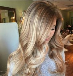 Blonde on bottom with blonde highlights at the top. Love it!!