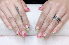 Pink - Blue- Neon Green - Neon Orange Nails Design Neon Orange Nails, Orange Nail Designs, Nails Design, Neon Green, Nail Colors, Pink Blue, Nail Colour, Nail Tip Colors