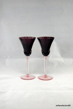 Mikasa Blossom PatternPlum Wine Glasses Sold by soflacollectors86, $43.00