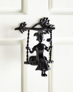 Cast Iron Door Knocker by MacKenzie-Childs at Horchow.