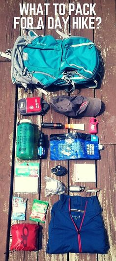 The 10 Essentials in my pack on a day hike hiking crafts, hiking packing list, hiking gear clothes Camping And Hiking, Backpacking Tips, Hiking Tips, Camping Gear, Outdoor Camping, Camping Hacks, Camping Activities, Camping Checklist, Hiking Food
