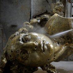#javiermarinescultor, #javiermarin, #terrenobaldioarte, #cabezachicoII, en la #Fundición, #bronce, #bronze, #escultura, #sculpture, #art, #cabeza, #head