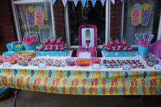 Flip Flop Swim Party Birthday Party Ideas | Photo 14 of 20 | Catch My Party