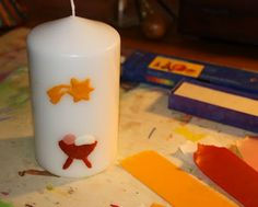 Explore and Express: Art Project: Decorate Christmas Candles with Beeswax