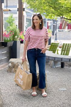 Two festive 4th of July outfits and more fashion for women over 40 with Nordstrom #ad Olive Green Pants, Olive Jacket, Dark Blue Suit, Most Comfortable Jeans, Stylish Summer Outfits, 4th Of July Outfits, Next Clothes, Fashion For Women Over 40, Sweaters And Jeans
