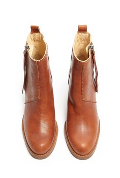 Chestnut Pistol Ankle Boots by Acne