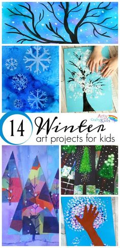 16 Winter Art Projects for Kids - A selection of gorgous snowy Winter art projec... - http://www.oroscopointernazionaleblog.com/16-winter-art-projects-for-kids-a-selection-of-gorgous-snowy-winter-art-projec/