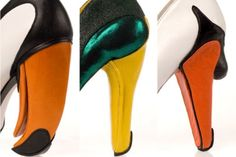 Kobi Levi's series of shoes draw inspiration from a toucan, a mallard and a swan.