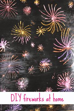 """Fireworks at home! """"Create"""" fireworks at home by this simple project."""