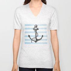 #Anchor V-neck #T-shirt by Sara Elan Donati - $24.00 #Society6 #outfit #shop