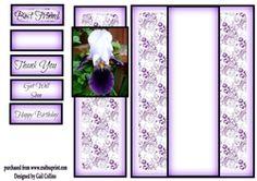 Iris panel card on Craftsuprint - View Now!