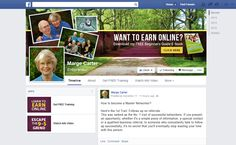 A Fan page design that we created for Marge  Carter.