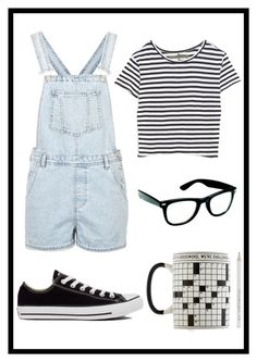 #131 nerd by xjet1998x on Polyvore featuring polyvore, fashion, style, Enza Costa, Topshop and Converse