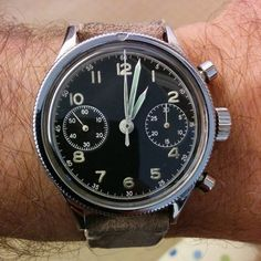 1954 Breguet Type 20 - French Air Force issue, Valjoux 222 movement, by royal.estate from Instagram http://ift.tt/YluQXR